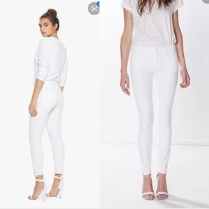 Mother The Looker Skinny Crop Jeans Glass Slipper